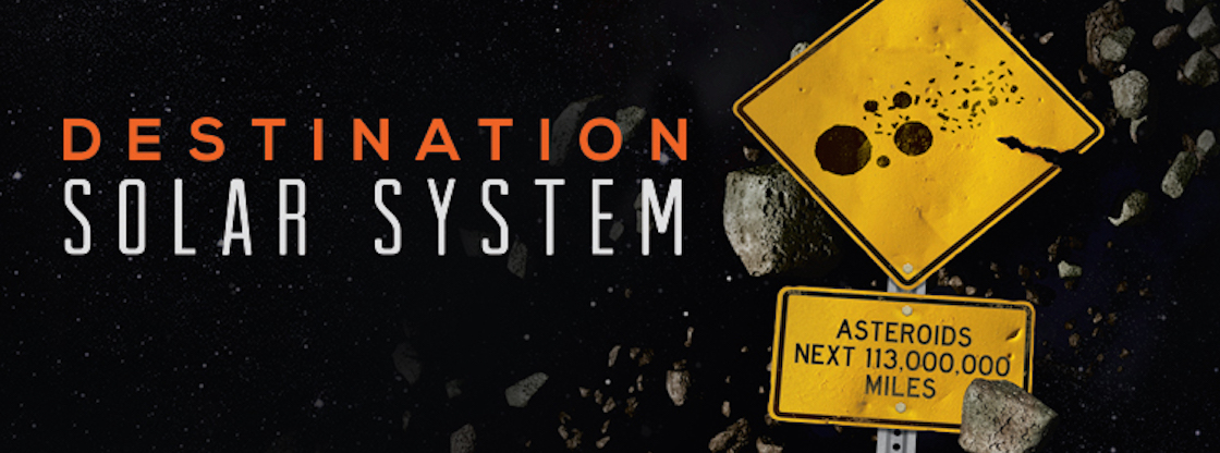 Explore space through the Adler Planetarium's sky show, 'Destination Solar System.'