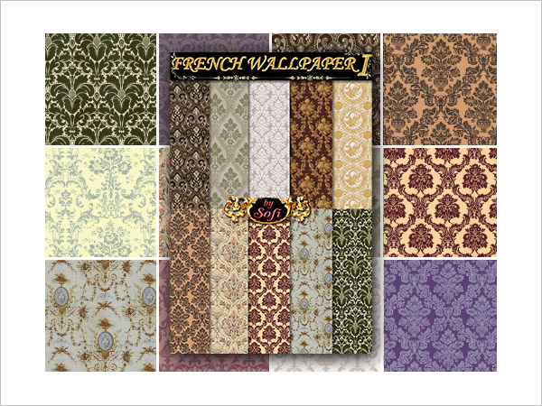 French Wallpaper Patterns 1