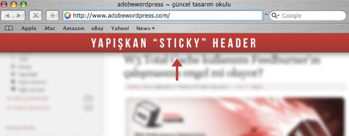 Sticky Header