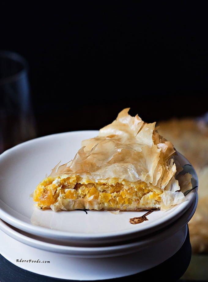 pumpkin and feta cheese pie kolokithopita kolokithopita greek pumpkin ...