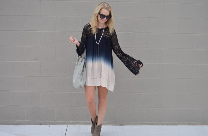 Pineapple Lace ombre dress