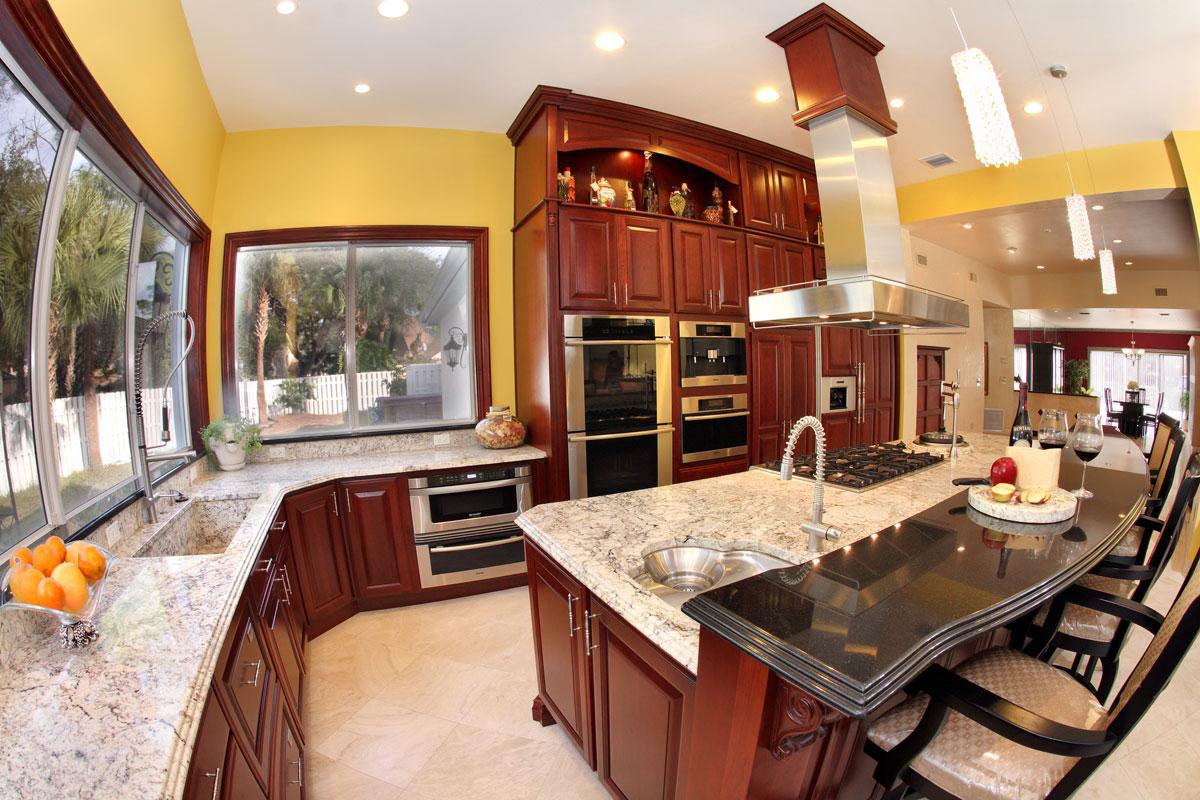 granite kitchen granite countertop Orlando Granite Kitchen Countertop with Stepped Edge Profile by ADP Surfaces in Orlando Florida