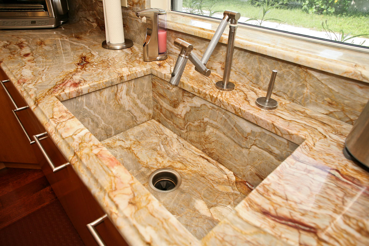 countertop gallery kitchen countertop ideas Farmhouse Granite Sink by ADP Surfaces in Orlando Florida Granite Kitchen Countertops Orlando