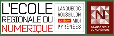 Nous sommes acteurs engagés dans l'ECOLE REGIONALE DU NUMERIQUE en Région Languedoc Roussillon Midi-Pyrénées et sommes labellisés GRANDE ECOLE DU NUMERIQUE par le gouvernement depuis Février 2016