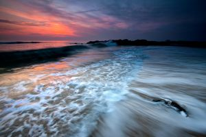 Rolling Wave Sunset
