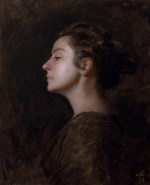 """Heather on Tuesday, ©2009 By Adrian Gottlieb Oil on Belgian Linen Size: 16"""" x 20"""" SOLD: Private Collection, Eric Polk"""