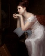 """Second Thoughts ©2010 By Adrian Gottlieb Oil on Belgian Linen Size: 36"""" x 24""""  S. R. BRENNEN GALLERIES Palm Desert, CA 92260 SOLD"""