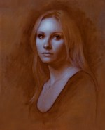 """Tori, Portrait of Victoria Bullough ©2007 By Adrian Gottlieb 18th Countess of Pembroke Size: 21"""" x 16"""" Commissioned By Lord William Herbert Private collection of William Herbert, 18th Earl Pembroke Wilton House, Wiltshire, England"""