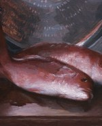 "Red Snapper, ©2012 By Adrian Gottlieb Oil on Belgian Linen Size: 10"" x 16""  S. R. BRENNEN GALLERIES"
