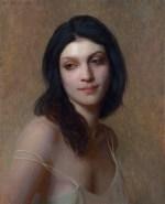 "Allison, ©2014 By Adrian Gottlieb Oil on Belgian Linen Size: 20""x16"".  Collection of Jon and Kristen Barron"