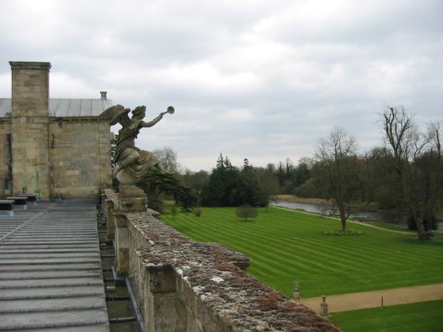 Wilton House view toward gardens