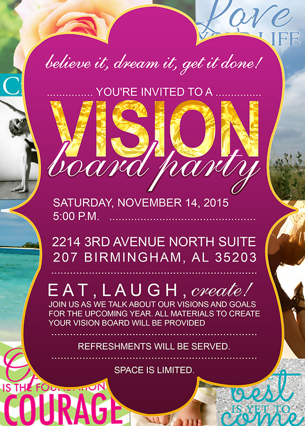 adrienne nixons vision board party - Vision Board Party Invitation