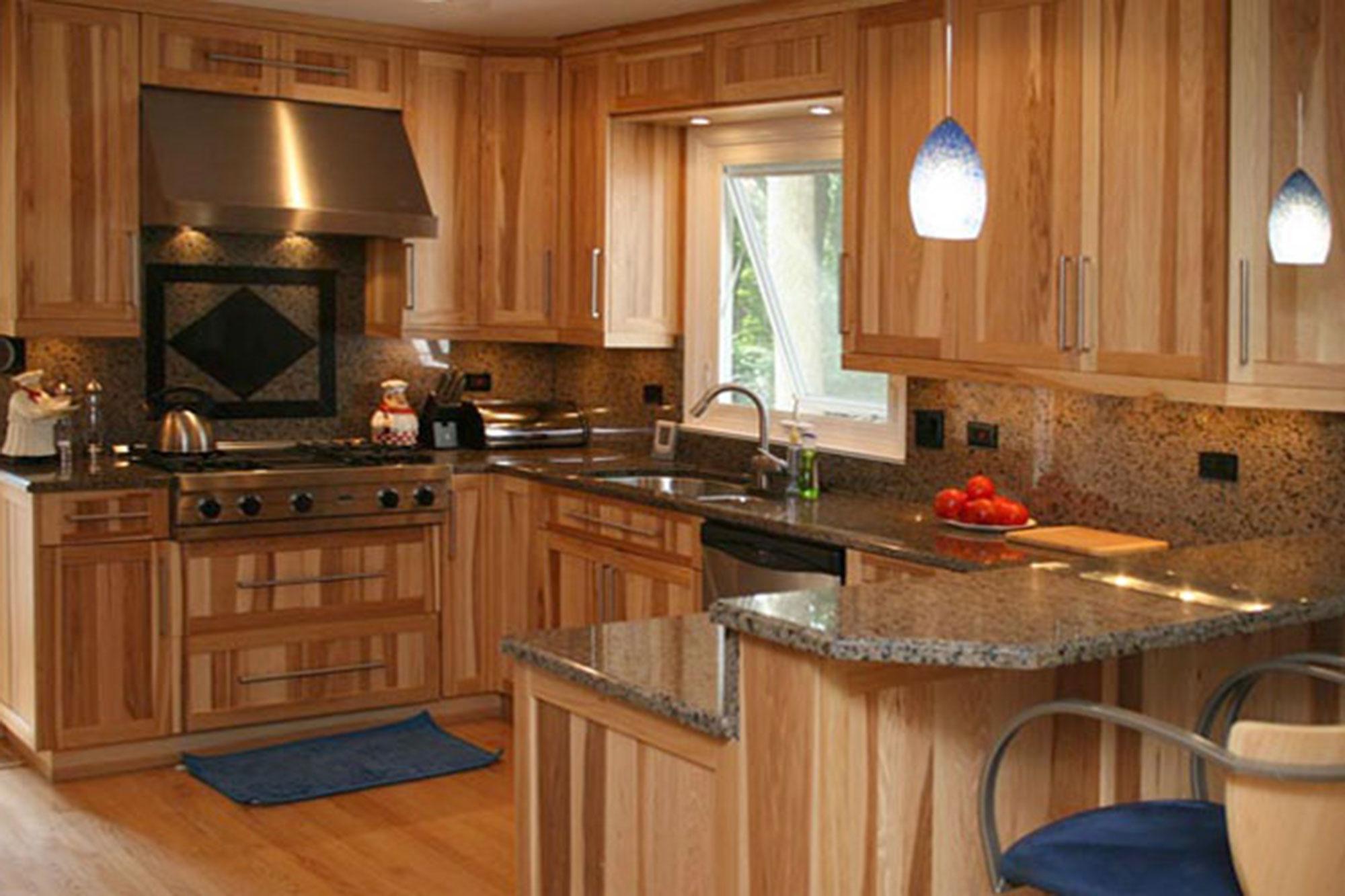 Hickory Wood Custom Kitchen Cabinets Hickory Wood Cabinets O19