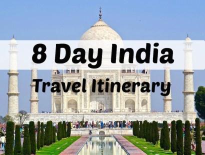 8 Day India Travel Itinerary
