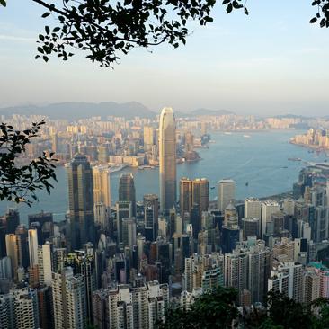 Hiking Victoria Peak in Hong Kong