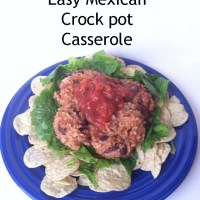Easy Mexican Crock pot Casserole