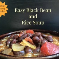 Easy Black Bean and Rice Soup