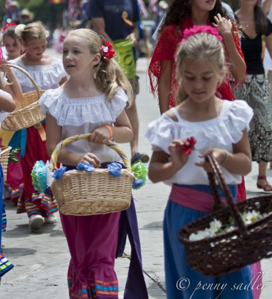 Flower girls, Fiesta Santa Barbara @PennySadler 2014