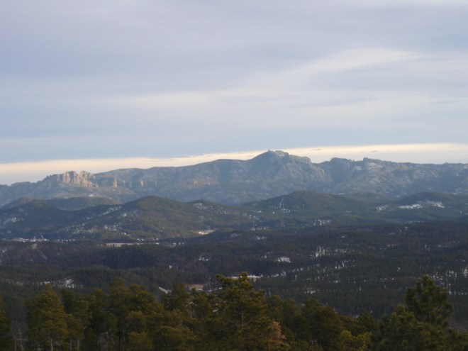 Harney Peak (7,242 ft.) from Lowden Mountain. Photo looks SSE.