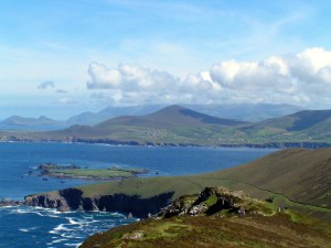 View From Blasket Island to the Mainland (photo by Micheal de Mordha)