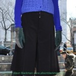 this stunning blue sweater will keep you warm and chic