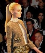 Reem Acra adds a touch of sparkle to a tailored sweater jacket
