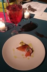 VIP level tickets included four additional dishes, including this aleppo cured salmon, rosewater panna cotta; whipped sheep milk ricotta and green olive tapenade.  I admit it: I had two!