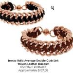 qvc leather bracelet