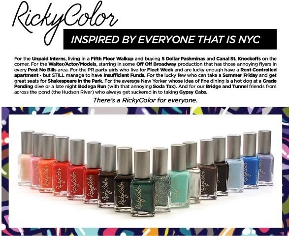 "A Color For Everyone, Inspired by Everyone ""NYC"" @Rickys_NYC #RickyColor"