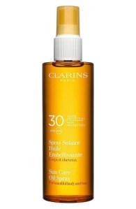 clarins sunscreen care oil spray spf 30