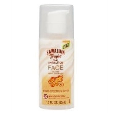 hawaiian tropic silk hydration face oil free SpF 30