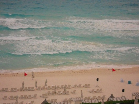 a view of the beach at Live Aqua, one of my fave place in Cancun, Mexico