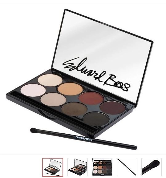 edward bess matte eye shadow palette