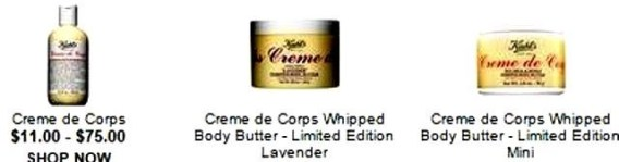 If you love the Kiehls Creme de Corps try these products too
