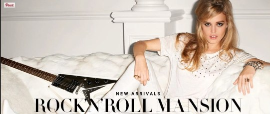 Rock'n'roll Mansion| H&M Spring 2013 |  Photographer: Terry Richardson Model: Georgia May Jagger