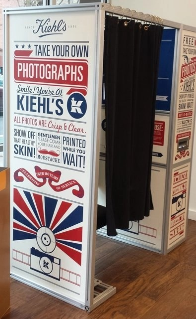kiehls photo booth