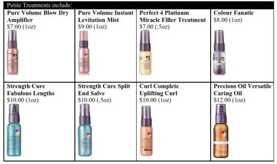 pureology mini styling products