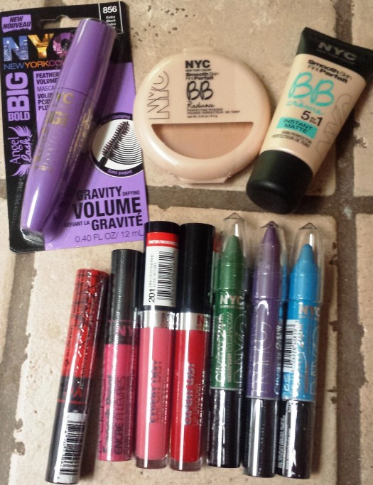 NYC New York color Cosmetics grouping