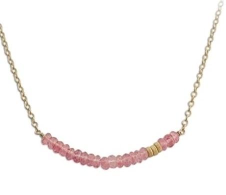 isabelle grace casncer pink gemstone necklace