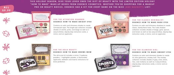 essence cosemtics holiday palettes