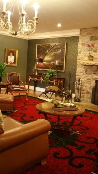 Guests are Nemacolin Woodlands enjoy art in all the public spaces throughout the resort and on the gournds