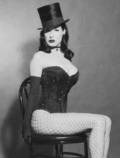 Dita Von Teese in a top hat