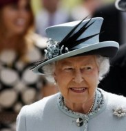 queen elizabeth in a top hat