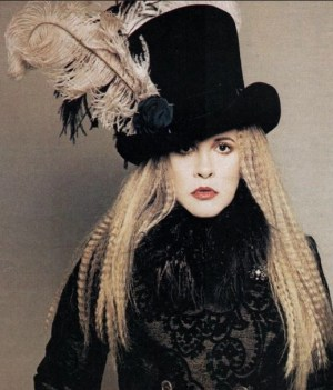stevie nicks 1970 top hat photo