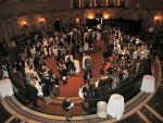 an overhead view of Brunello wine tasting event in NYC