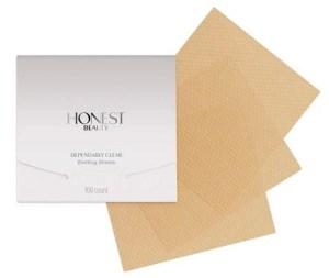dependably clear blotting sheets honest beauty