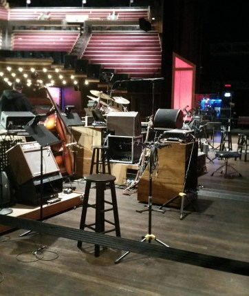 the opryland stage with equipment on it