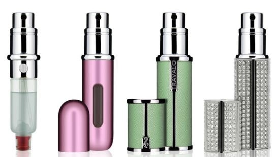 Some examples of Travalo fragrance atomizers