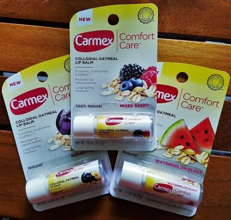 carmex comfort care colloidal oatmeal lip balm trio