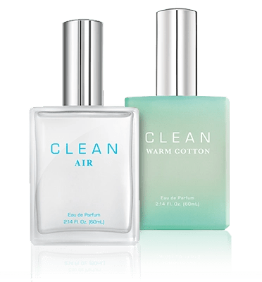 clean air and warm cotton fragrances